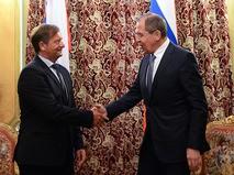 Министр иностранных дел России Сергей Лавров и министр иностранных дел Словении Карл Эрьявец