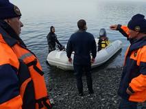Сотрудники МЧС России во время поисково-спасательной операции