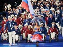 Паралимпийская сборная России на церемонии открытия ХIV летних Паралимпийских игр на Олимпийском стадионе в Лондоне