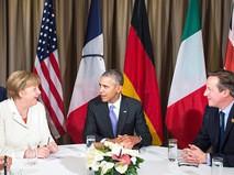Ангела Меркель, Барак Обама и Дэвид Кэмерон