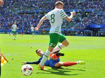 Матч между Францией и Ирландией на Евро-2016