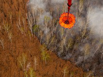 Тушение лесного пожара с воздуха