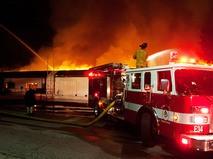 Пожарная служба США на месте происшествия