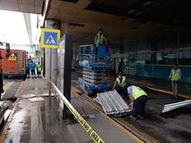 Восстановительные работы в аэропорту Стамбула после теракта