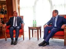Глава МИД Сергей Лавров и министра иностранных дел Турции Мевлют Чавушоглу