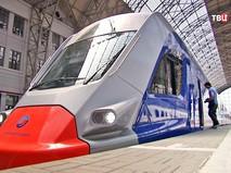 Поезд для МКЖД на Киевском вокзале