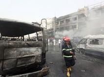 На месте взрыва в Багдаде, Ирак