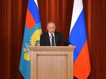 Владимир Путин на совещании послов и постоянных представителей России в иностранных государствах в МИД РФ