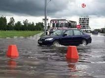 Последствия сильного ливня в Новосибирске