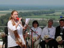 Людмила Зайцева выступает на горе Пикет