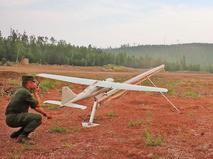 Запуск военного беспилотника