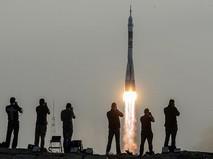"""Старт ракеты-носителя с космодрома """"Байконур"""""""
