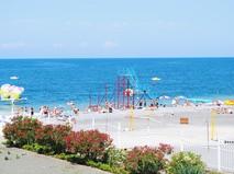 Городской пляж в Сочи