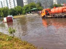 Последствия сильного ливня в Красноярске