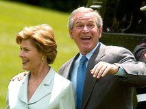 Джордж Буш-младший с супругой