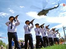 Прощание с военным летчиком Евгением Долгиным погибшим в Сирии