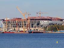 """Санкт-Петербург. Строительство нового футбольного стадиона """"Зенит-Арена"""" на Крестовском острове"""