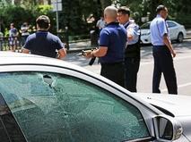 Полиция Казахстана на месте стрельбы