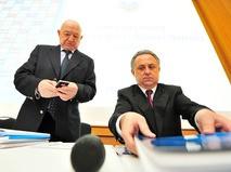 Никита Симонян и Виталий Мутко
