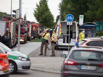 Экстренные службы на месте происшествия в Мюнхене