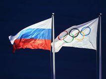 Флаг России и МОК