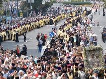 Участники Всеукраинского крестного хода мира, любви и молитвы за Украину