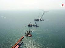 Строительство Крымского моста через Керческий пролив
