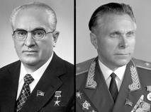 Генеральный секретарь ЦК КПСС Юрий Владимирович Андропов и министр внутренних дел СССР Николай Анисимович Щёлоков