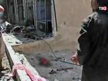 Последствия авиаудара западной коалиции в Сирии