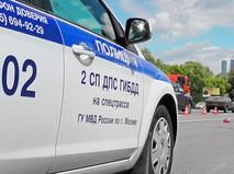 Автомобиль ДПС на Кутузовском проспекте