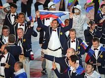 Представители России на церемонии открытия XXXI летних Олимпийских игр в Рио-де-Жанейро