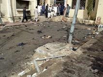 На месте взрыва в Пакистане