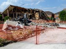 Взрыв дома в США