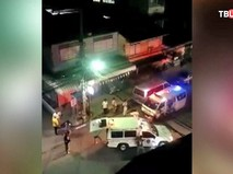 Полиция Таиланда на месте взрыва