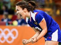 Игрок сборной России по гандболу Анна Вяхирева