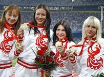 Российские спортсменки Александра Федорива, Юлия Чермошанская, Евгения Полякова, Юлия Гущина