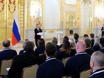 Владимир Путин на встрече с олимпийской сборной России
