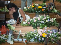 Похороны погибших в Италии