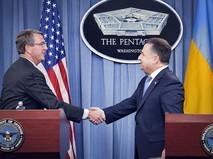 Глава Пентагона Эштон Картер и министр обороны Украины Степан Полторак