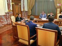 Дмитрий Медведев на совещании с членами правительства