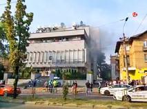 """Пожар в здании украинского телеканала """"Интер"""""""