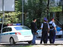 Полиция Казахстана на месте происшествия
