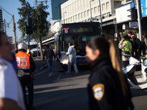 Экстренные службы на месте происшествия в Тель-Авиве