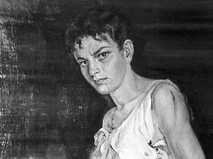 Портрет партизанки Зои Космодемьянской