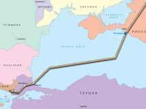 """Схема планируемой трассы газопровода """"Турецкий поток"""""""