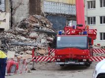 Последствия обрушения в здании на территории бывшего завода АЗЛК