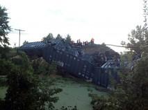 Авария на железнодорожном мосту в Петровском районе Саратовской области