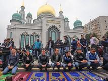 Мусульмане празднуют Курбан-байрам