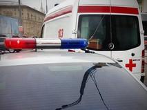 Полиция и скорая помощь на месте происшествия в Москве