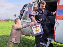 Полиция и МЧС доставила избирательные бюллетени для выборов